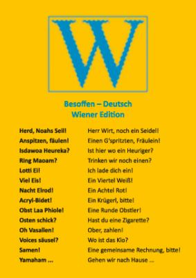 Besoffen – Deutsch (Wiener Edition)